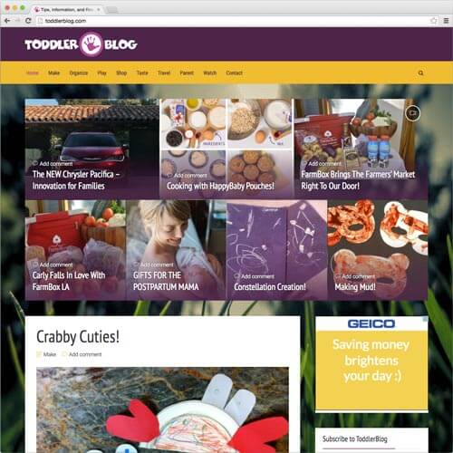 website picture toddlerblog.com domain reviews