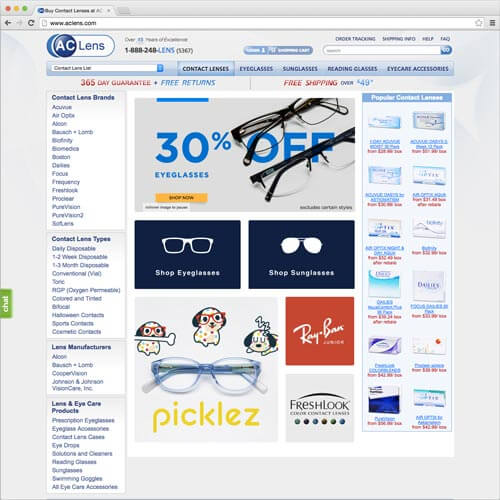 website picture aclens.com domain reviews