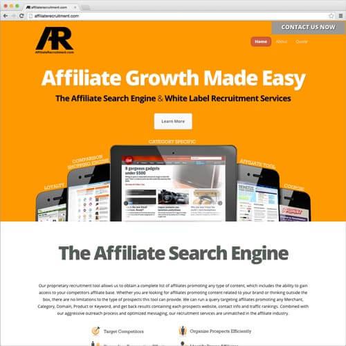 website picture affiliaterecruitment.com domain reviews