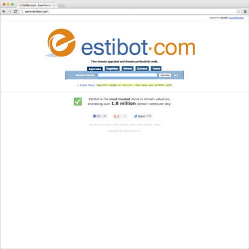 website picture estibot domain reviews